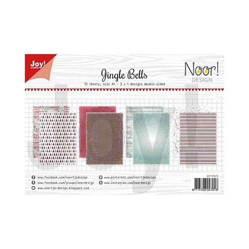 Papier Set A4 Noor - Design Jingle bells