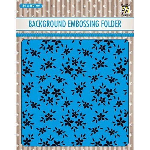 Nellies Choice Emb.folder Achtergrond kleine bloemen EEB019 150x150mm (06-19)