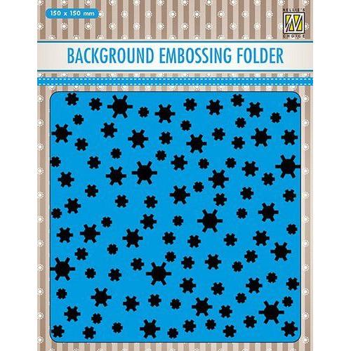 Nellies Choice Emb.folder Achtergrond sneeuwvlokken EEB021 150x150mm (06-19)