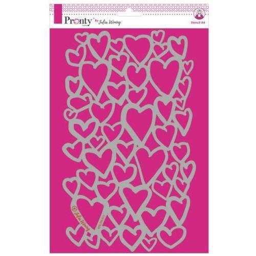 Pronty Stencil Hearts 470.765.011 A4 Julia Woning (05-19)