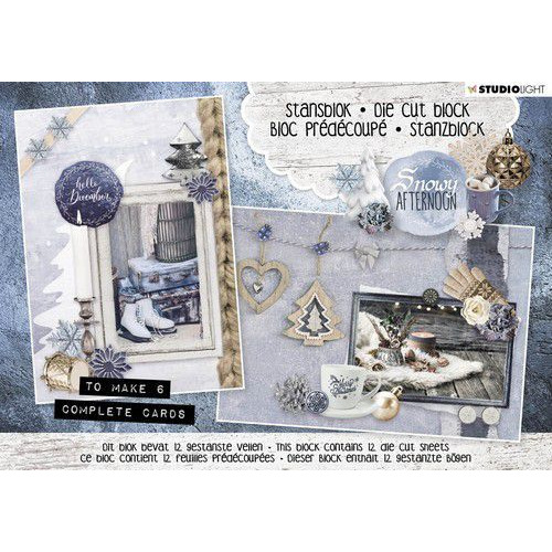 Studio Light Die cut blocs A5 12 vel Snowy Afternoon nr. 23 A5STANSBLOKSA23 (06-19)