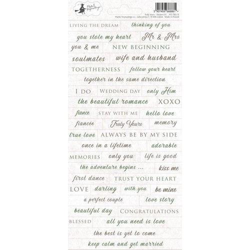Piatek13 - Sticker sheet Truly Yours 01 P13-TRU-11 10,5x23 cm (06-19)