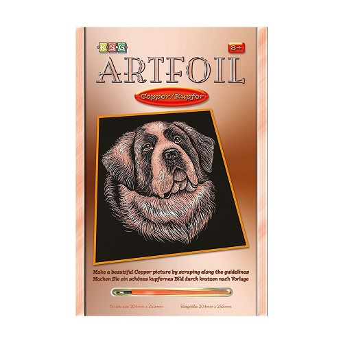 Sequin Art • Artfoil copper st bernard