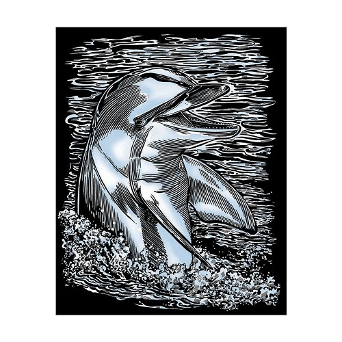 Sequin Art • Artfoil silver dolphin