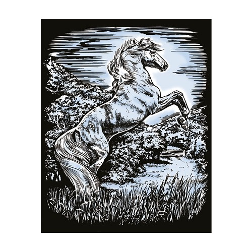 Sequin Art • Artfoil silver stallion
