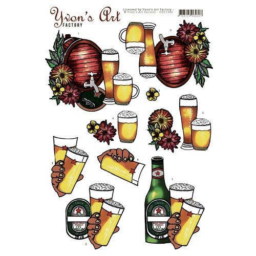 3D Knipvel -Yvon`s Art- Beer