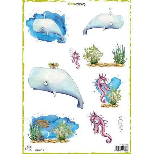 CraftEmotions Decoupage vellen Ocean 2 A4 170 grm Carla Creaties (06-19)