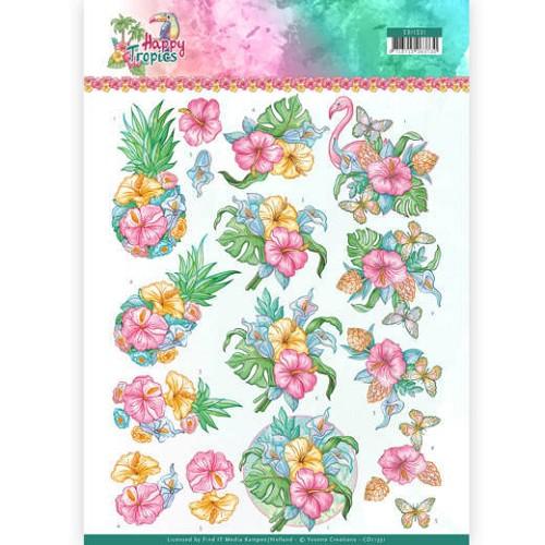 3D Knipvel - Yvonne Creations - Tropical Flowers