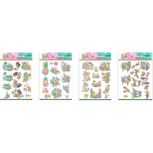 Yvonne Creations Happy Tropics uitdrukset 361/62/63/64