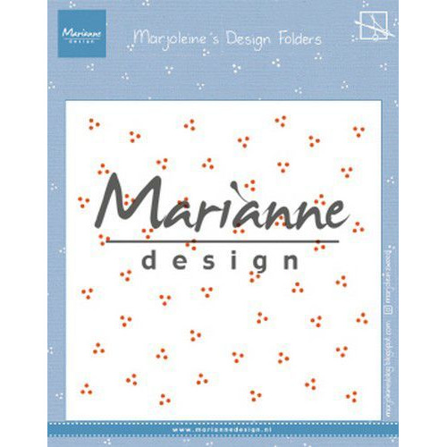 Marianne D Embossing folder Marjoleine's dots DF3455 152x154mm (07-19)