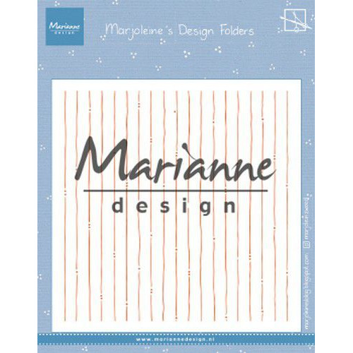 Marianne D Embossing folder Marjoleine's stripes DF3456 152x154mm (07-19)