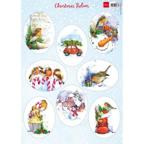 Marianne D Decoupage Christmas - Roodborstjes VK9578 A4 (07-19)