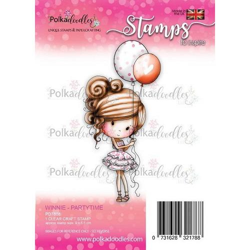 Polkadoodles stamp Winnie - Partytime
