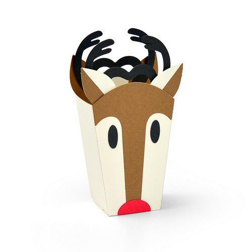 Sizzix Thinlits Die Set - 6PK Reindeer Bag 663609 (07-19)