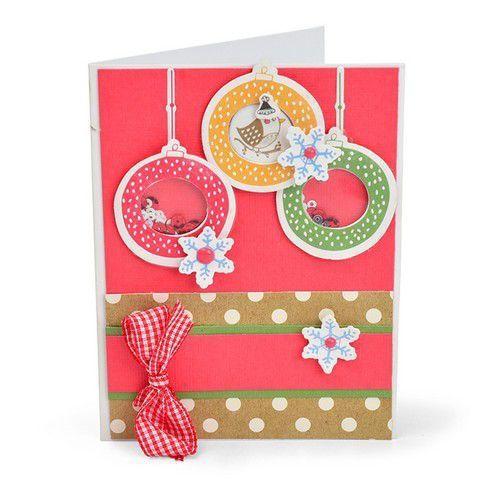 Sizzix Framelits Die Set With Stamp - Hanging Ornaments 663680 Jordan Caderao (07-19)