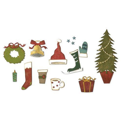 Sizzix Thinlits Die Set - 12PK Festive Things 664191 Tim Holtz (07-19)