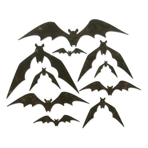 Sizzix Thinlits Die Set - 10PK Bat Crazy 664203 Tim Holtz (07-19)