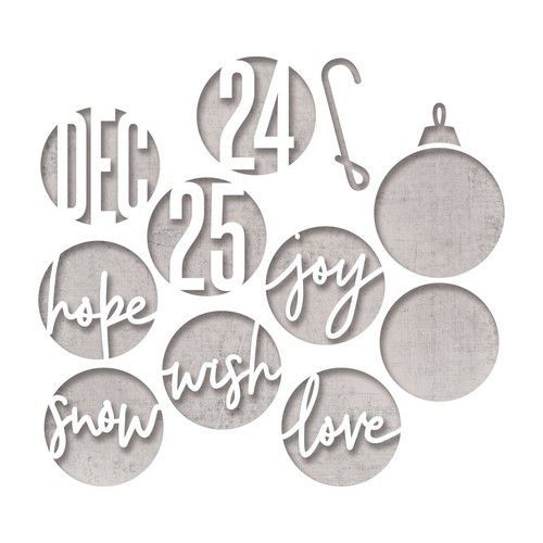 Sizzix Thinlits Die Set - 12PK Circle Words, Christmas 664205 Tim Holtz (07-19)