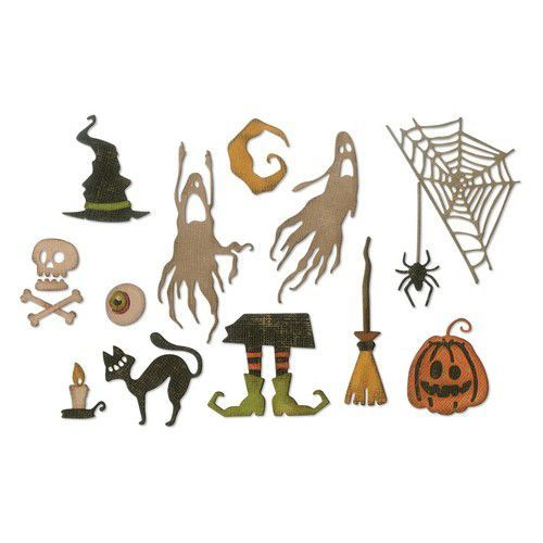 Sizzix Thinlits Die Set - 16PK Frightful Things 664209 Tim Holtz (07-19)