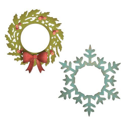 Sizzix Thinlits Die Set - 6PK Wreath & Snowflake 664210 Tim Holtz (07-19)