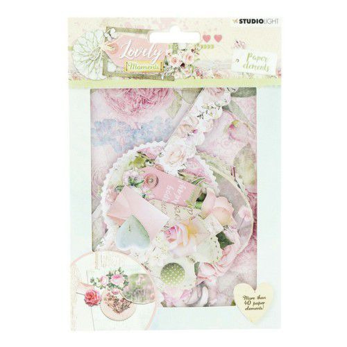 Studio Light Die Cut Paper Set Lovely Moments nr 654 EASYLM654 (07-19)