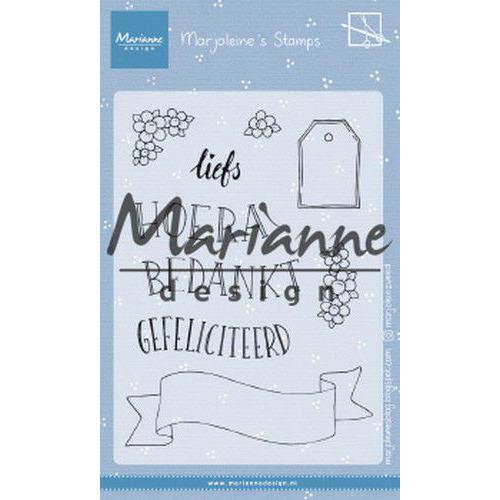 Marianne D Clear Stamps Marjoleine's teksten en labels (NL) MZ1904 105x148mm (07-19)