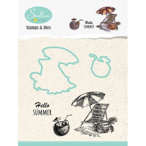 Nellie's Choice Holiday Die cut & clearstamp set toel HDCS004 52x51mm/22x25mm (04-19)