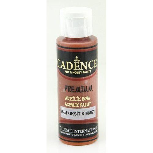 Cadence Premium acrylverf (semi mat) Oxide - rood 01 003 7554 0070  70 ml