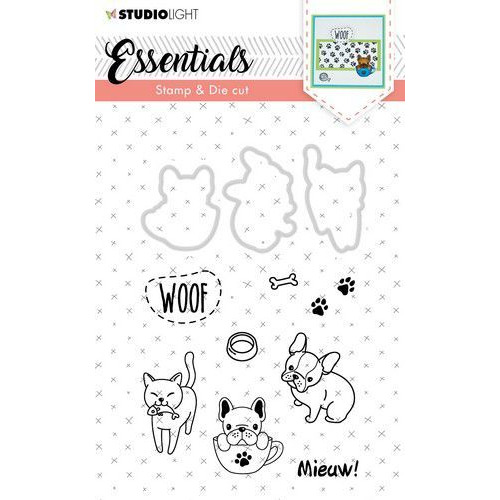 Studio Light Stamp & Die Cut A6 Essentials Animals nr 30 BASICSDC30 (07-19)