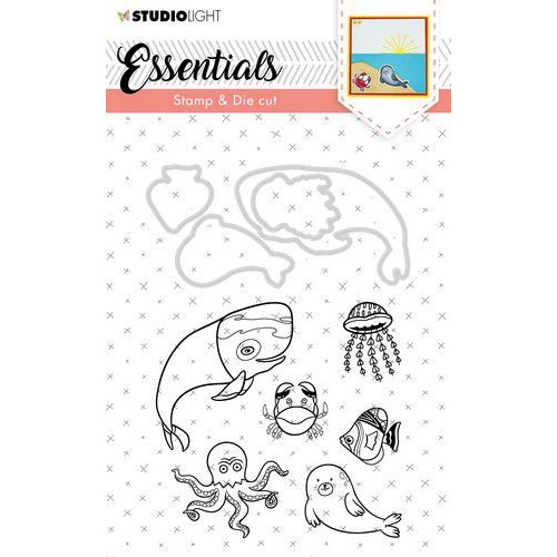 Studio Light Stamp & Die Cut A6 Essentials Animals nr 31 BASICSDC31 (07-19)