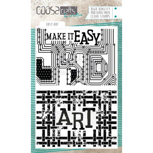 COOSA Crafts Clearstamps A6 - Easy Art COC-088 (07-19)