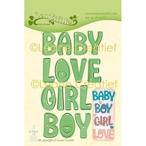 LeCrea - Leabilitie Words Baby, Boy, Girl, Love snijmal 45.6111 (08-19)