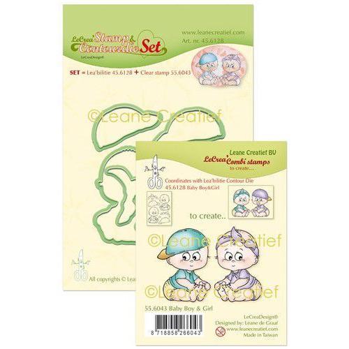 LeCrea - Leabilitie stamp & Contour die set Baby boy&girl 45.6128 (08-19)