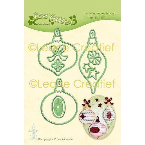 LeCrea - Leabilitie Kerst ornamenten snij en embossing mal 45.6173 Combi (08-19)