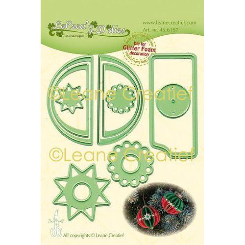 LeCrea - Leabilitie Gl. Foam Kerstbal rand glad snijmal 45.6197 (08-19)