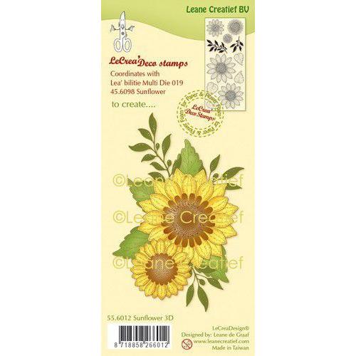 LeCrea - clear stamp combi Zonnebloem 3D 55.6012 Combi (08-19)