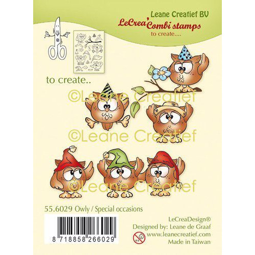 LeCrea - clear stamp combi Uil, special occasions 55.6029 (08-19)