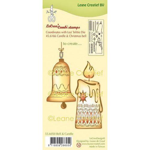 LeCrea - clear stamp combi Kerstbel & Kaars 55.6050 Combi (08-19)