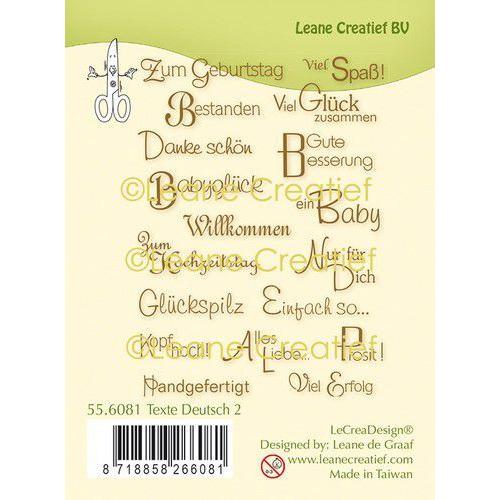 LeCrea - clear stamp Teksten Duits 2. (DE) 55.6081 (08-19)