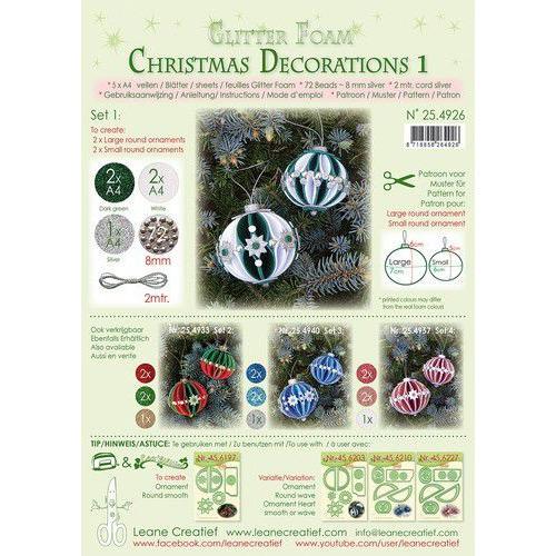 LeCrea - Gl. Foam Kerstbal decoratie Set 1, 5 vel A4 25.4926 (08-19)