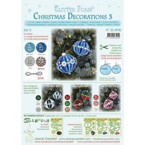 LeCrea - Gl. Foam Kerstbal decoratie Set 3, 5 vel A4 25.4933 (08-19)