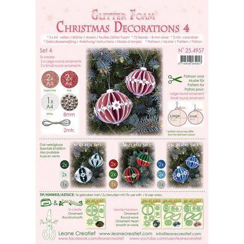 LeCrea - Gl. Foam Kerstbal decoratie Set 4, 5 vel A4 25.4933 (08-19)
