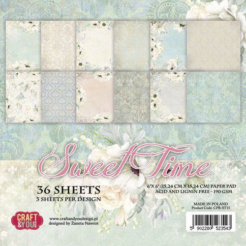 Craft&You Sweet Time Small Paper Pad 6x6 36 vel CPB-ST15 (06-19)