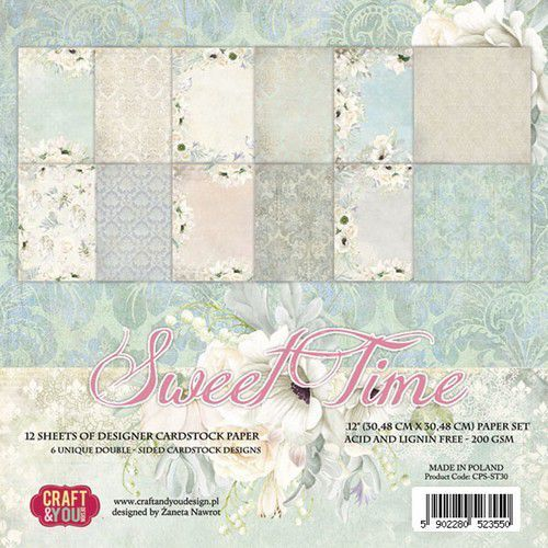 Craft&You Sweet Time BIG Paper Set 12x12 12 vel CPS-ST30 (06-19)