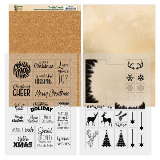 Mica Sheets - Amy Design - Christmas in Gold