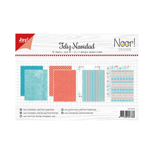 Papier Set A4 Noor - Design Feliz Navidad