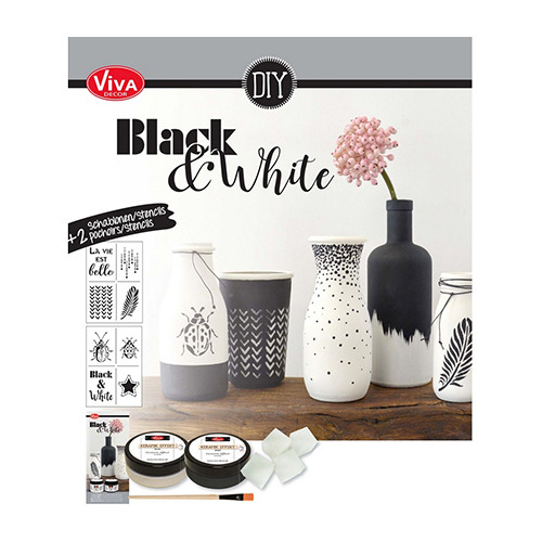 Kreativ-Set Black & White / Zwart & Wit