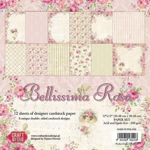 Craft&You Bellissima Rosa Big Paper Set 12x12 12 vel CPS-BR30