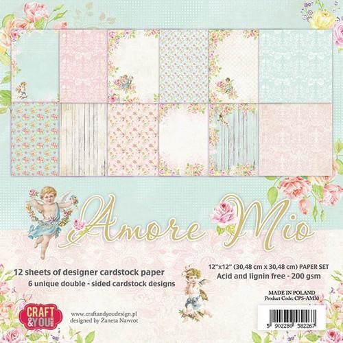 Craft&You Amore Mio Big Paper Set 12x12 12 vel CPS-AM30 (06-18)