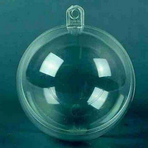 1 PK (5 ST) Plastic bal transparant 8 cm